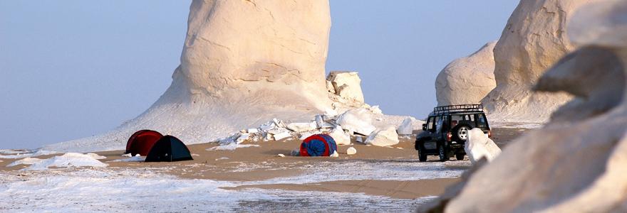 le désert Blanc d'Egypte